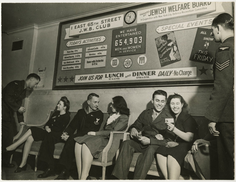 Date: November 9, 1942 Location: 65th Street J.W.B. Club, New York City, Photographer: Eagle, Arnold