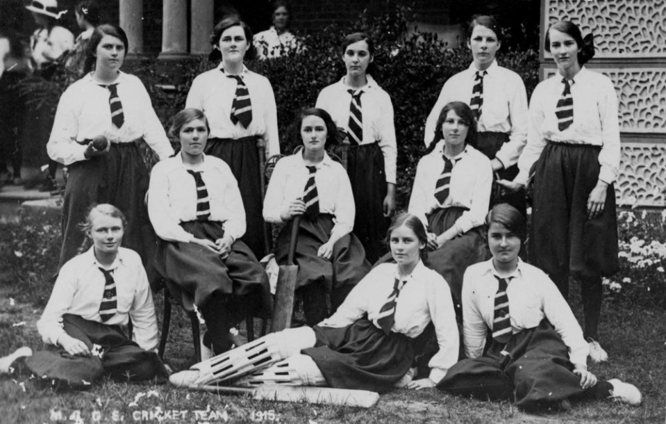 Date: circa 1915 Location: Maryborough, Queensland Who: Maryborough Girls Grammar School cricket team