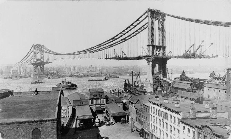 Manhattan_Bridge_Construction_1909