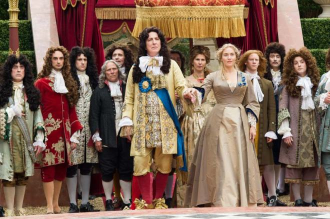 Alan Rickman stars as King Louis XIV in A Little Chaos. Copyright 2015 Transmission Films